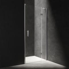 Omnires Manhattan Drzwi prysznicowe uchylne 120 cm chrom