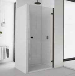 SanSwiss Annea Drzwi jednoczęściowe prawe 90cm (88,5-90 cm) czarny mat