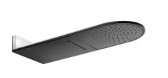 Kludi A-QA Deszczownica naścienna 250 mm Czarny mat/chrom