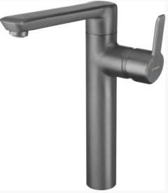 Deante Arnika Titanium Bateria umywalkowa wysoka z korkiem Titanium