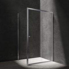 Omnires Bronx Kabina prostokątna drzwi przesuwne 140x90 cm chrom