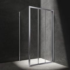 Omnires Bronx Kabina prysznicowa 110x90 cm drzwi przesuwne chrom