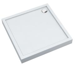 Schedpol Cameron Brodzik kwadratowy 90x90 cm wys.12 cm biały