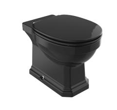 Roca Carmen Miska WC Rimmles stojąca 56 cm kolor czarny połysk