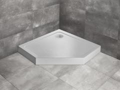 Radaway Doros PT Compact Stone Brodzik pięciokątny 90x90x11,5 cm biały