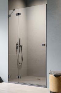 Radaway Essenza Pro Black DWJ drzwi do wnęki 90 cm (89,2-90,8) Lewe Czarny/Przejrzyste