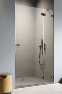 Radaway Essenza Pro Black DWJ drzwi do wnęki 90 cm (89,2-90,8) Prawe Czarny/Przejrzyste