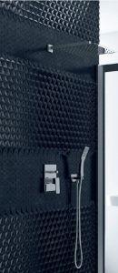 Zestaw prysznicowy z deszczownicą , słuchawką oraz baterią podtynkową, kolor chrom. Platania ARAX.SET.7044C firmy Axel.