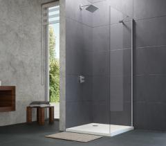 Huppe Design Pure Ścianka prysznicowa boczna 90 cm chrom eloxal