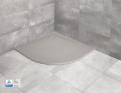 Radaway Kyntos A Brodzik półokrągły 80x80 cm Cemento