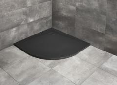 Radaway Kyntos A brodzik półokrągły 80x80 cm black