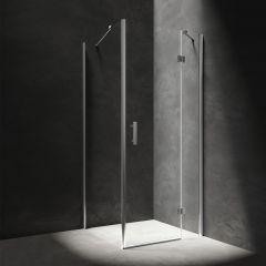 Omnires Manhattan Kabina prysznicowa 100x90 cm drzwi uchylne chrom