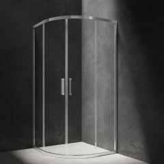 Omnires Chelsea Kabina półokrągła drzwi przesuwne 90 cm chrom