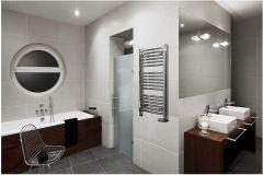 Instal Projekt Omega R Grzejnik łazienkowy 700x1173mm biały