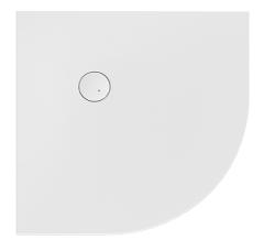 Sanplast Open Mineral Brodzik półokrągły 90x90x1,5 cm biały