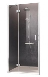 Kermi Osia Drzwi do wnęki 120 cm lewe (118-121 cm) profil srebrny połysk