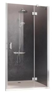 Kermi Osia Drzwi do wnęki 80 cm prawe (78-81 cm) profil srebrny połysk
