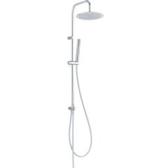 Laveo Pretto zestaw prysznicowy ścienny z deszczownicą chrom PLP00OX