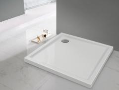 Sanplast Prestige Brodzik kwadratowe 80x80x3 cm biały