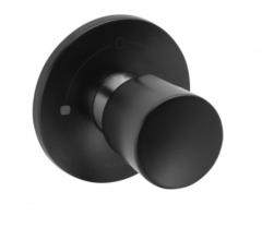 Kludi Balance Przełącznik podtynkowy 2-kierunkowy Czarny mat/chrom