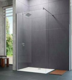 Huppe Design Pure Ścianka Walk-In 90 cm chrom eloxal