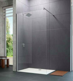 Huppe Design Pure Ścianka Walk-In 140 cm chrom eloxal