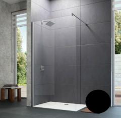 Huppe Design Pure Ścianka Walk-In 100 cm profil czarny