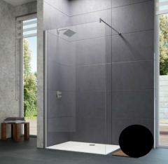 Huppe Design Pure Ścianka Walk-In 90 cm profil czarny