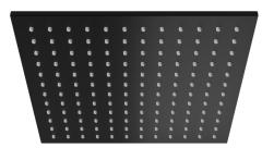Kohlman Deszczownica kwadratowa 25x25 cm czarny mat