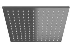 Kohlman Deszczownica kwadratowa 25x25 cm szczotkowany grafit