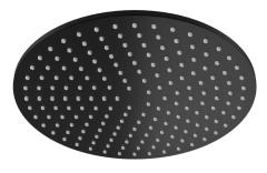 Kohlman Roxin Black Deszczownica okrągła 25 cm czarny mat
