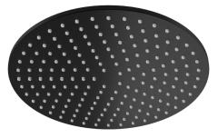 Kohlman Roxin Black Deszczownica okrągła 30 cm czarny mat