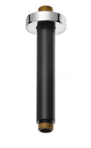 Kludi A-QA Ramię sufitowe deszczowni 150 mm Czarny mat/chrom