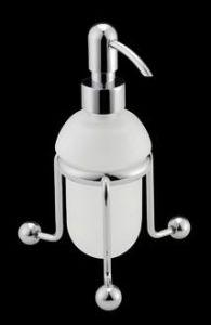Bagno&Associati Regency Dozownik na mydło szklany stojący chrom