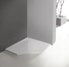 Sanplast SPACE MINERAL BPK-M/SPACE Brodzik pięciokątny 90x90 cm wys. 3 cm biały