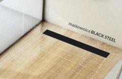 Schedpol Base Low Odpływ liniowy z maskownicą Black Steel 100x8 cm