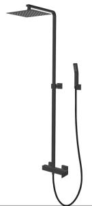 Kolumna natryskowa z deszczownią i słuchawką natryskową, Sette VBS7007 firmy Vedo, kolor chrom.