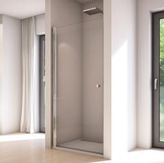 SanSwiss Solino Drzwi jednoczęściowe 75 cm (73-75 cm) srebrny połysk