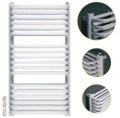 Instal Projekt Standard 3D Grzejnik łazienkowy biały z podłączeniem bocznym 500 x 686 mm