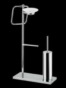 Bagno&Associati Stojak na ręcznik papier szczotka WC chrom