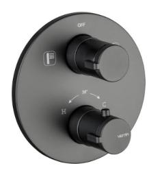 Vema Timea Bateria wannowo-natryskowa termostatyczna czarny mat