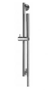 Vema Tiber Steel Zestaw natryskowy na drążku stal nierdzewna