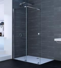 Huppe Xtensa Pure Drzwi prysznicowe lewe 120-140 cm profil srebrny połysk