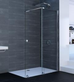 Huppe Xtensa Pure Drzwi prysznicowe prawe 120-140 cm profil srebrny połysk